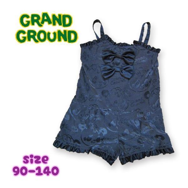 Grand Ground グラグラ ハッピ〜ジャガードショートサロペ 90-140 18ss caramelmama