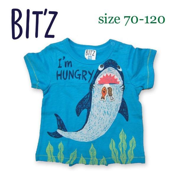 Bit'z ビッツ サメPtTシャツ 70-120 18ss|caramelmama