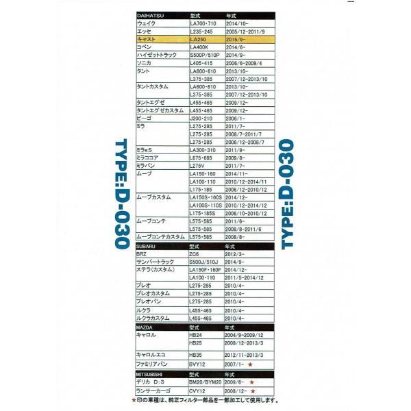 エムリットフィルター 【TYPE D-030】 ダイハツ スバル スズキ ニッサン 等 自動車用エアコンフィルター 特典あり|carclinic|03