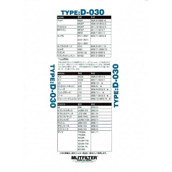 エムリットフィルター 【TYPE D-030】 ダイハツ スバル スズキ ニッサン 等 自動車用エアコンフィルター 特典あり|carclinic|04