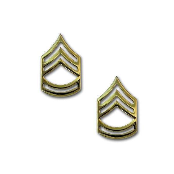 アメリカ陸軍 下士官 階級章 - 1等軍曹 襟章 サービスドレス用 米軍 ...