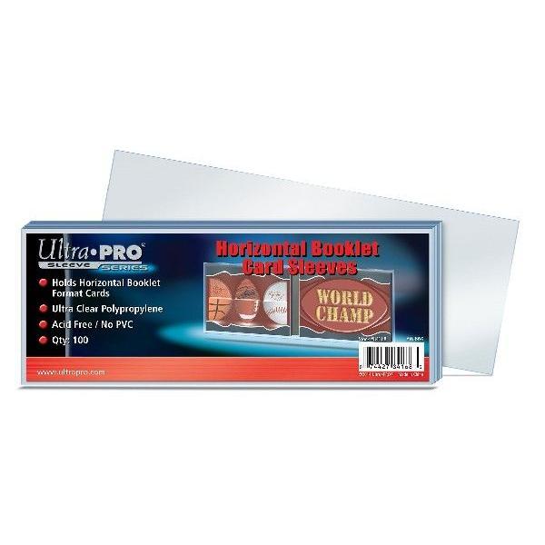 Ultra Pro (ウルトラプロ) カードスリーブ 横型ブックレットカードサイズ対応 100枚入り (#84168) / Horizontal Booklet Card Sleeves