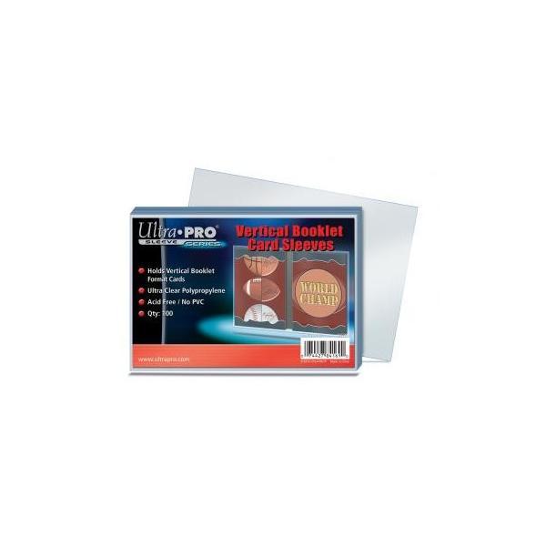 Ultra Pro (ウルトラプロ) カードスリーブ 縦型ブックレットカードサイズ対応 100枚入り (#84169) / Vertical Booklet Card Sleeves