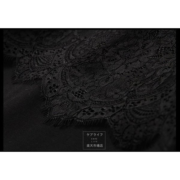 ea7600eaa486a ... レディース ファッション ワンピース エレガント パーティードレス☆襟 Uネック 薄絹 レース七分