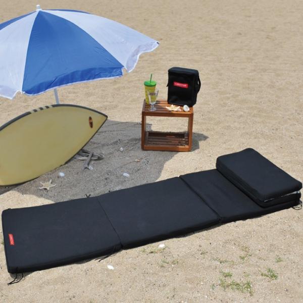 ビーチマット ベッド 防水 カナロア ブラック ウェットスーツ素材 ビーチ アルミ 海水浴 シルバー レジャーシート 洗える キャンプ プール 車中泊 CARESTAR|carestar-shop|04