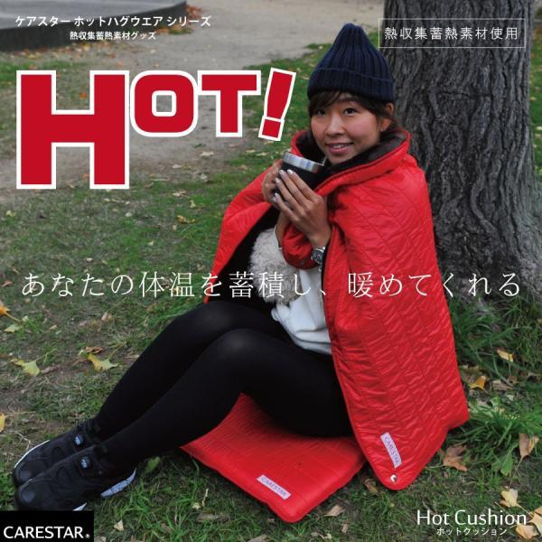 蓄熱する あったか クッション リバーシブル 防水 座布団 蓄熱 暖かい ダウンジャケット おしゃれ ホット アウトドア carestar-shop 02