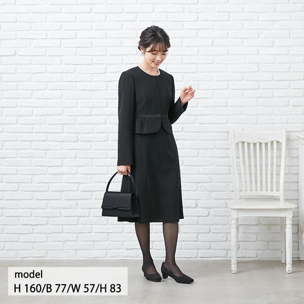 【1003405】ブラックフォーマル ワンピーススーツ 送料無料 5号〜23号 レディース 女性 洗える ウォッシャブル|carette-shop|02