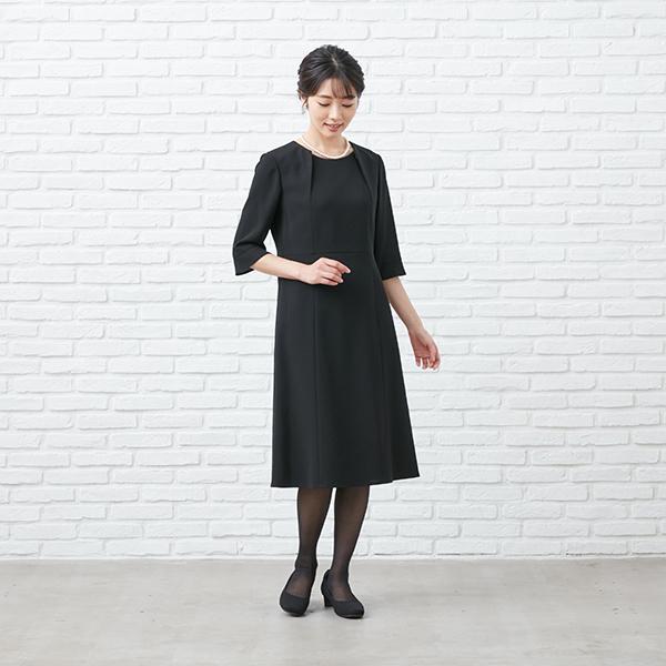 【1003405】ブラックフォーマル ワンピーススーツ 送料無料 5号〜23号 レディース 女性 洗える ウォッシャブル|carette-shop|12