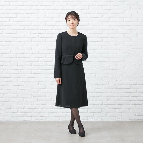 【1003405】ブラックフォーマル ワンピーススーツ 送料無料 5号〜23号 レディース 女性 洗える ウォッシャブル|carette-shop|09