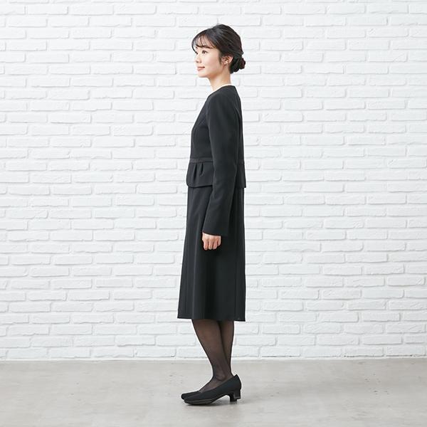 【1003405】ブラックフォーマル ワンピーススーツ 送料無料 5号〜23号 レディース 女性 洗える ウォッシャブル|carette-shop|10