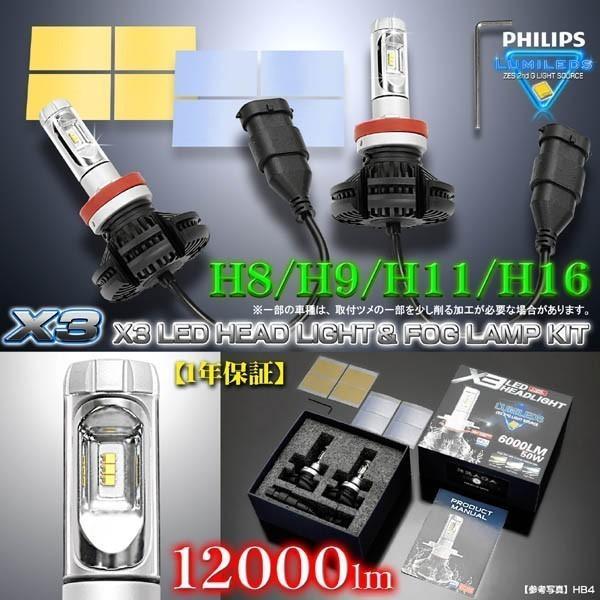2019年最新版/86/マークX/アイシス/H8/H9/H11/H16/X3 PHILIPS 12000ルーメンLEDヘッドライト&フォグランプ50W/6500K車検対応/フイルム付2個/1年保証 cargoodsya-shopping 05