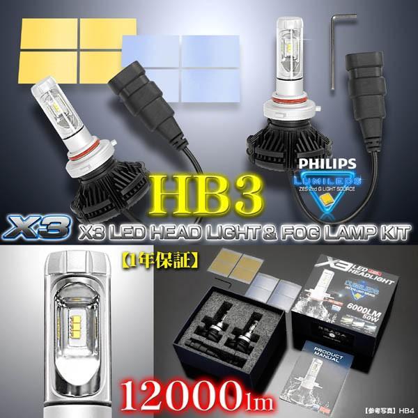 2019年最新版/HB3/X3 PHILIPS 12000ルーメンLEDヘッドライトキット50W/6500K車検対応/2500K-8000K変換フイルム付/2個セット/1年保証|cargoodsya-shopping|05