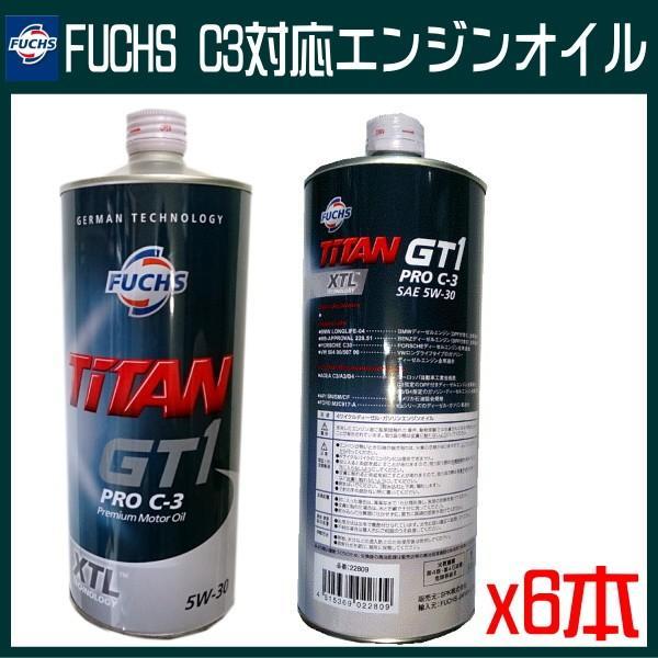 FUCHS (フックス)エンジンオイルTITAN GT1 PRO C3 5W-30 x6L BENZ・BMW・VW・AUDI車に推奨|carpart83