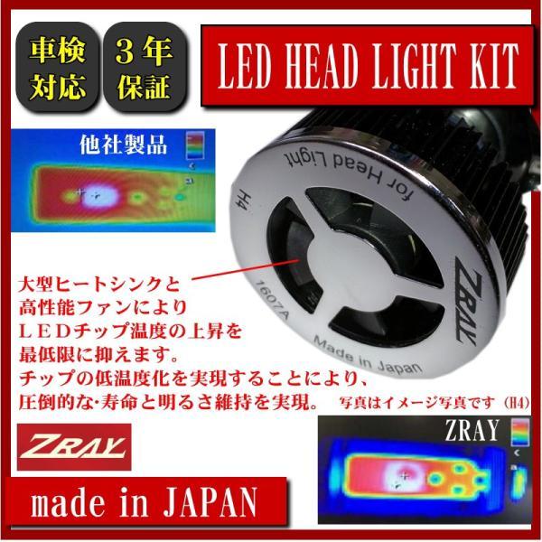 LED ヘッドライト 日本製 3年保証 車検対応 ZRAY H4 6500ケルビン 4000/3000ル―メン 送料無料 RH1|carpart83|04