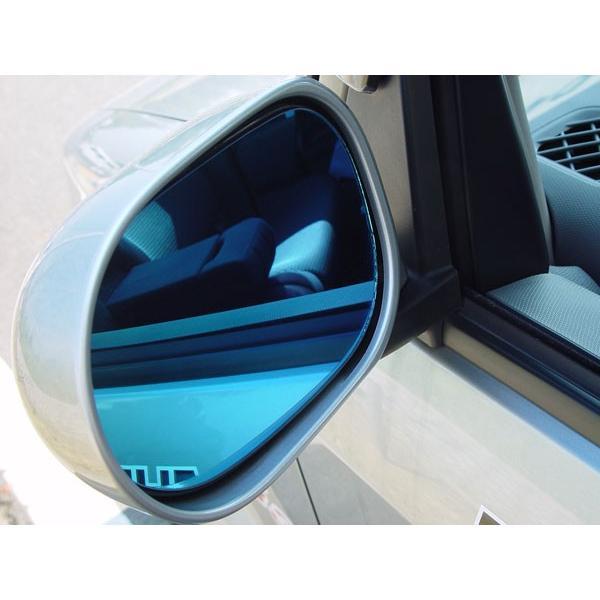 アウトバーン 広角ドレスアップサイドミラー/ブルー レガシィB4(BL系/A-C型) 03/05〜06/04 ドアミラーウインカー