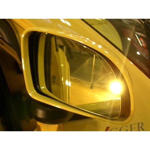 アウトバーン 広角ドレスアップサイドミラー/ゴールド フェラーリ 208GTB