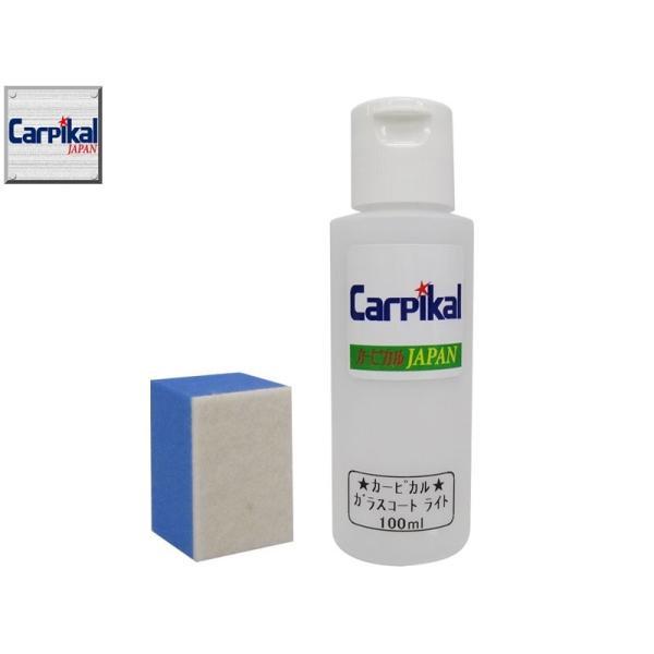【業務用 カーピカル ガラスコーティング ライト 100ml】(お試しサイズ) ウインドウガラスコーティング 撥水性