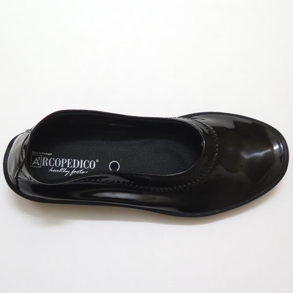 ARCOPEDICO(アルコペディコ) エナメルバレリーナ 5061450 カラー:ブラック