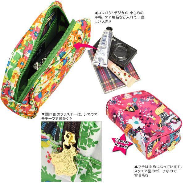 化粧ポーチ 使いやすい 小物入れ スクエア型 コスメポーチ KayoHoraguchi|carron|04