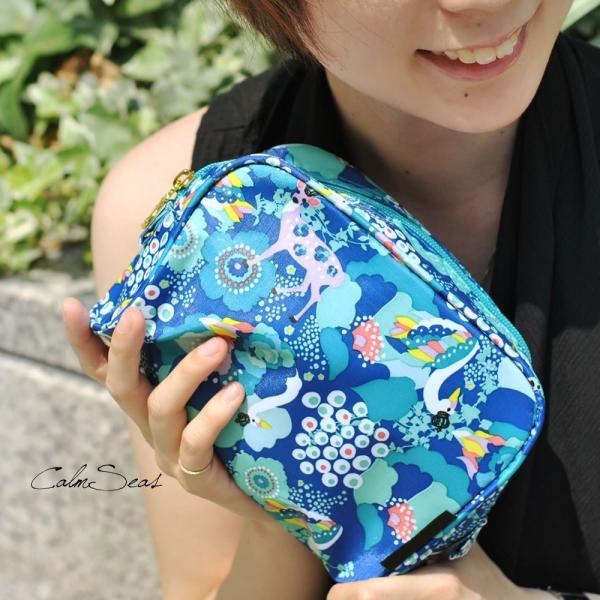 化粧ポーチ 使いやすい 小物入れ スクエア型 コスメポーチ KayoHoraguchi|carron|06