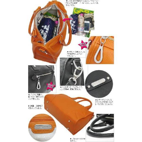 ハンドバッグ レディース レディス 通勤 ボストンバッグ 本革レザー 2WAY フロントジップポケット 斜め掛け イタリア CAPOVERSO ミリアム bag|carron|05