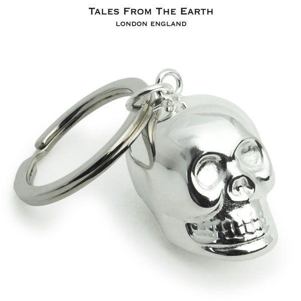 メンズ キーホルダー 歌うガイコツのキーリング イギリス TALES FROM THE EARTH Men's|carron
