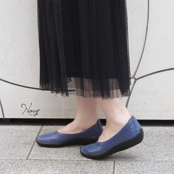 バレエシューズ パンプス レディース レディス 外反母趾 靴 痛くない 走れる アルコペディコ L'ライン BALLERINA LUXE バレリーナルクス|carron|02