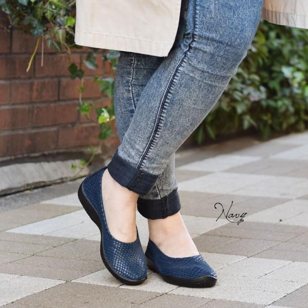 バレエパンプス バレエシューズ 靴 レディース レディス 歩きやすい 40代 50代 60代 疲れない バレリーナ ジオ1 アルコペディコ GEO1|carron|03