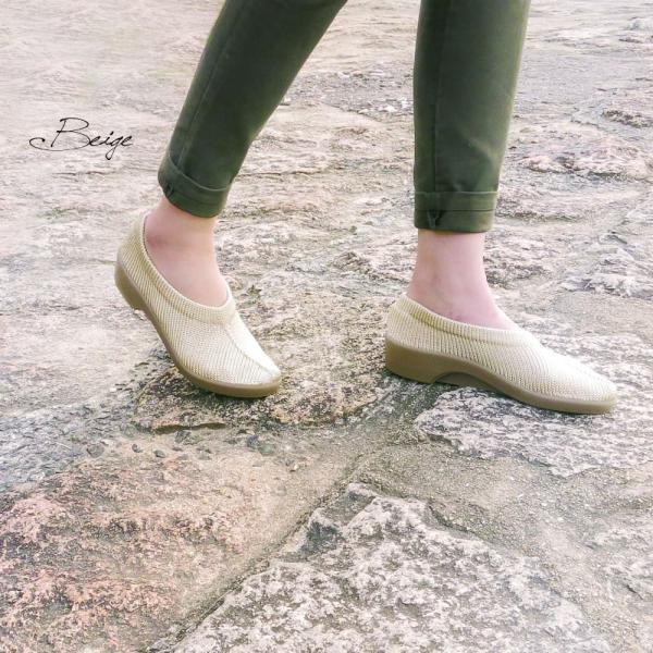 コンフォートシューズ レディース パンプス 痛くない 大きいサイズ ぺたんこ フラット ローヒール ラウンドトゥ 黒 靴 アルコペディコ|carron|05