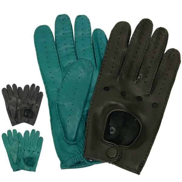 ドライビンググローブ 本革 革手袋 メンズ Men's 防寒 バイク 薄い イタリア製 羊革 レザー S M 皮 長指 フルフィンガー|carron