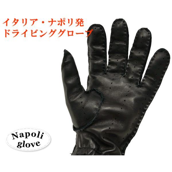 ドライビンググローブ 本革 革手袋 メンズ Men's 防寒 バイク 薄い イタリア製 羊革 レザー S M 皮 長指 フルフィンガー|carron|02