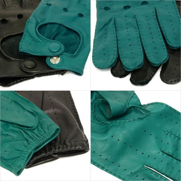 ドライビンググローブ 本革 革手袋 メンズ Men's 防寒 バイク 薄い イタリア製 羊革 レザー S M 皮 長指 フルフィンガー|carron|04
