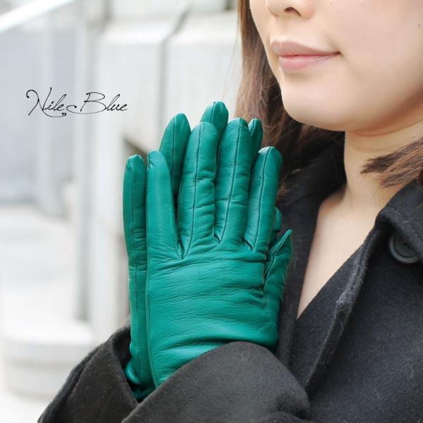 手袋 シンプル レディース レディス 暖かい カシミヤライニング イタリア製 本革 ナッパレザー グローブ carron 03