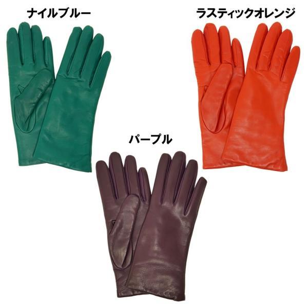 手袋 シンプル レディース レディス 暖かい カシミヤライニング イタリア製 本革 ナッパレザー グローブ carron 05