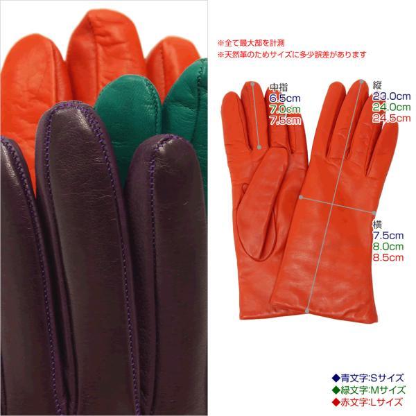 手袋 シンプル レディース レディス 暖かい カシミヤライニング イタリア製 本革 ナッパレザー グローブ carron 07