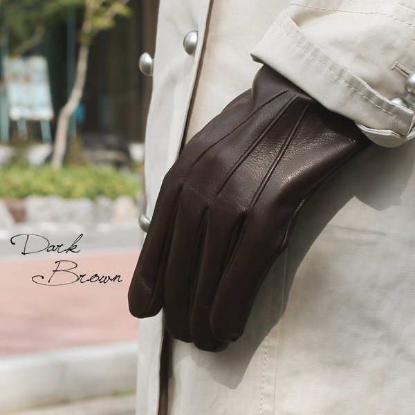 スマホ手袋 メンズ Men's 革手袋 スマートフォン対応 カシミヤライニング イタリア製 お洒落 本革 レザーグローブ シンプル|carron|02