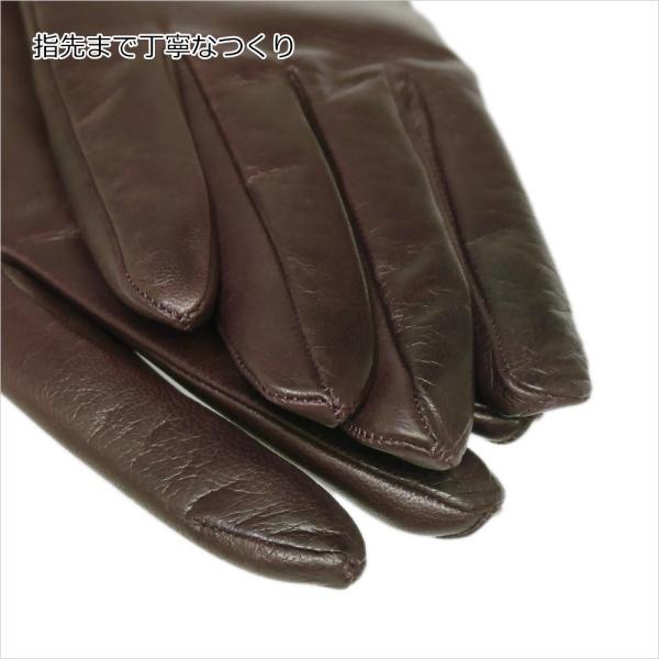 手袋 レディース レディス 暖かい カシミヤライニング イタリア製 本革 ナッパレザー グローブ シンプル セミロング ミドルレングス|carron|09
