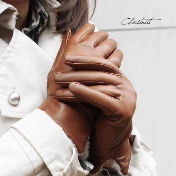 革手袋 レディース レディス カシミヤライニング ボア カフ イタリア製 本革 レザーグローブ|carron|06
