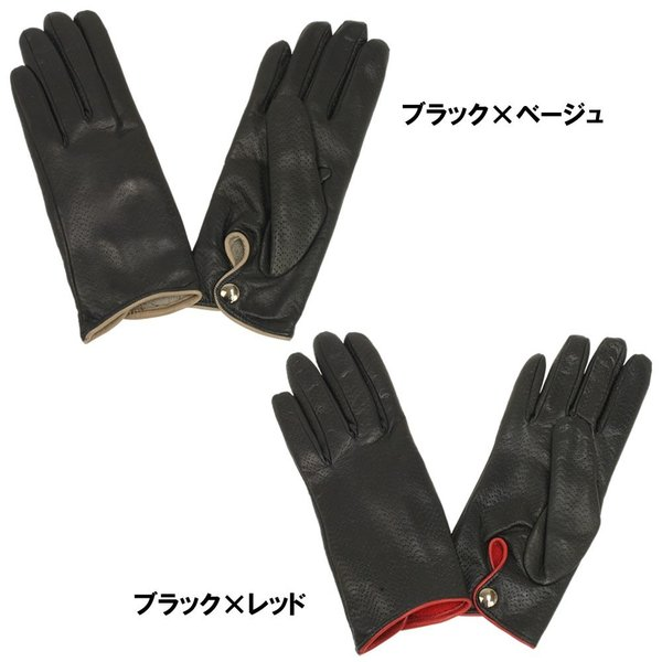 革手袋 レディース レディス レザーグローブ カシミヤライニング イタリア製 本革|carron|03