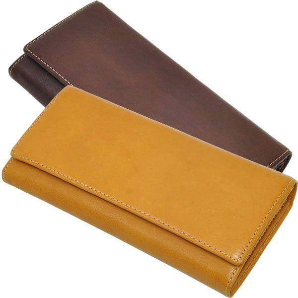 長財布 レディース レディス かぶせフラップ ベジタブルレザー 全3色 carron