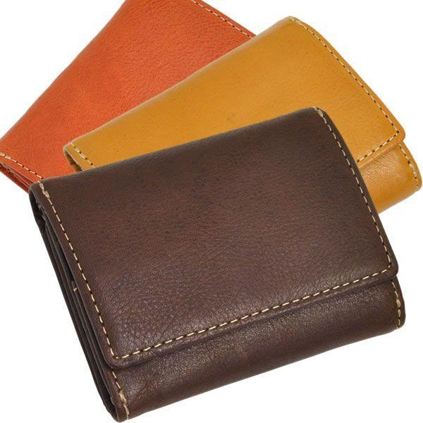 コンパクト 三つ折り財布 レディース レディス ベジタブルレザー 全3色 carron