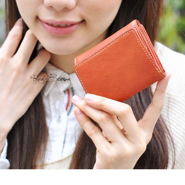 コンパクト 三つ折り財布 レディース レディス ベジタブルレザー 全3色 carron 02
