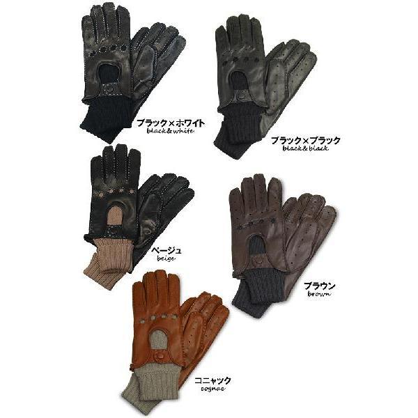 メンズ Men's ドライビンググローブ 革手袋 紳士用 本革 ナッパレザー ウール コンビ イタリア製 AntonioMurolo|carron|06