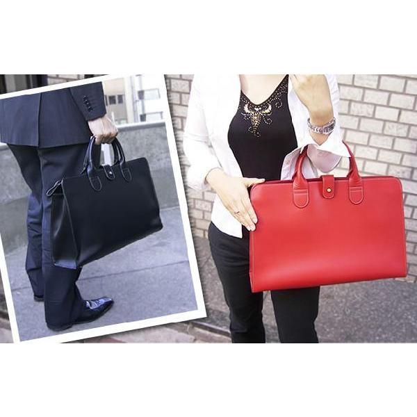 トートバッグ レディース レディス 通勤 ブリーフケース メンズ Men's かばん A4 ビジネスバッグ 上質オイルレザー レッド 赤 bag|carron|03