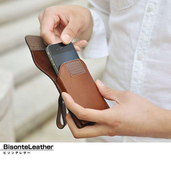 スマホケース スマートフォンケース 縦型 国産 本革 ビゾンテレザー メンズ Men's レディース レディス 全3色|carron|02