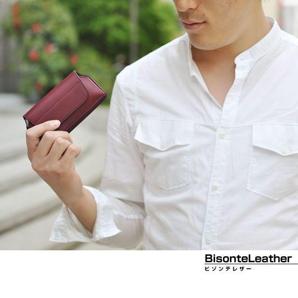 スマートフォンケース スマホケース 横型 国産 本革 ビゾンテレザー メンズ Men's レディース レディス 全3色|carron|05