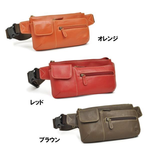 ウエストポーチ レディース レディス おしゃれ 軽量 本革 シンプル ヒップバッグ メンズ Men's ボディーバッグ bag|carron|02