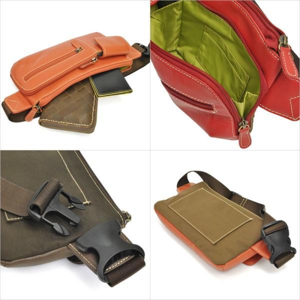 ウエストポーチ レディース レディス おしゃれ 軽量 本革 シンプル ヒップバッグ メンズ Men's ボディーバッグ bag|carron|03