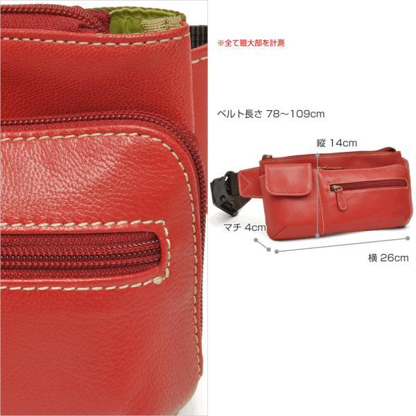 ウエストポーチ レディース レディス おしゃれ 軽量 本革 シンプル ヒップバッグ メンズ Men's ボディーバッグ bag|carron|06