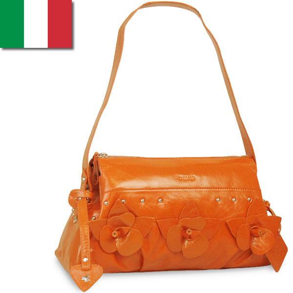 ワンショルダーバッグ レディース レディス エナメル 艶レザー クラシカル フラワーモチーフ イタリア carraro アルダ bag|carron